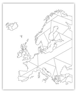 Europa Geometrisch Wit