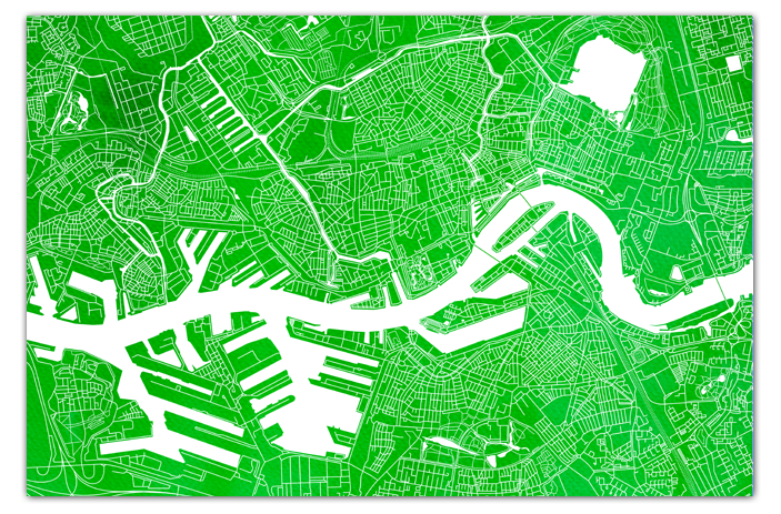 Rotterdam-Groen-Zonder-kaderrand-Waterverf copy