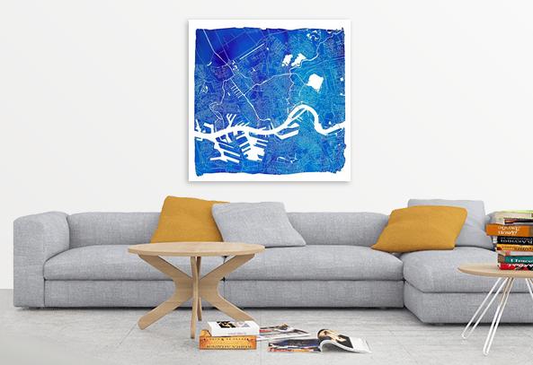 Rotterdam Vierkant Blauw