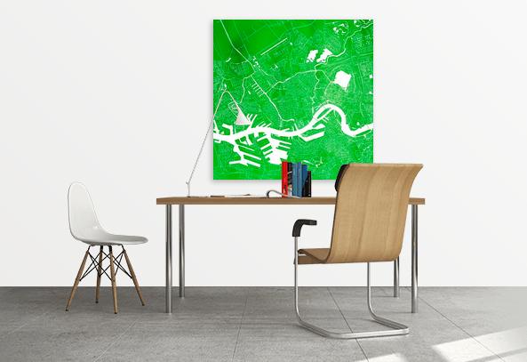Rotterdam Vierkant Groen zk