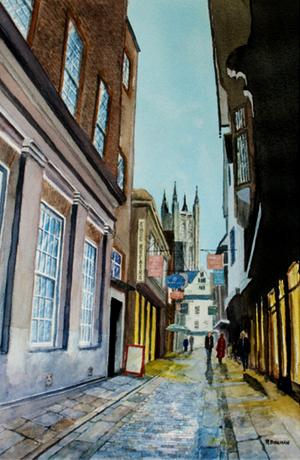 Aquarel Canterbury