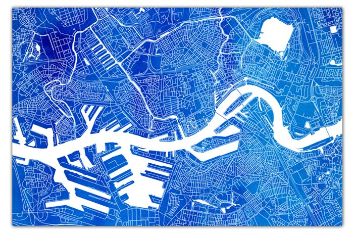 Rotterdam-Blauw-Zonder-kaderrand-Waterverf
