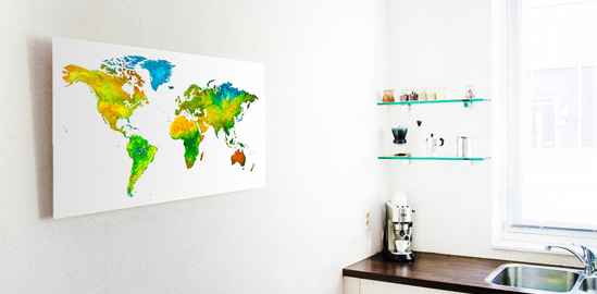 Keuken met Care Wereldkaart new