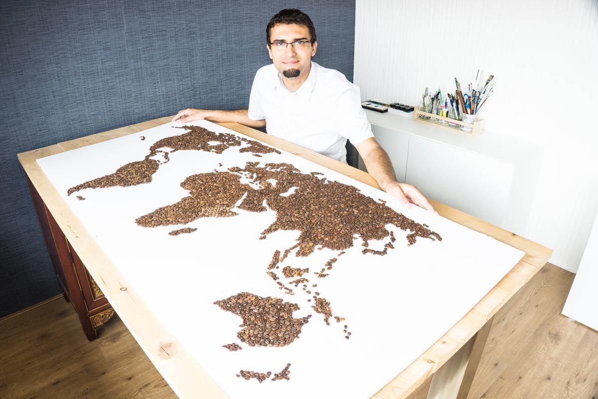 Ricardo en de Wereldkaart van Koffiebonen