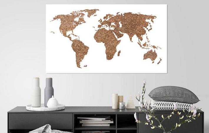 02 Wereldkaart van koffiebonen