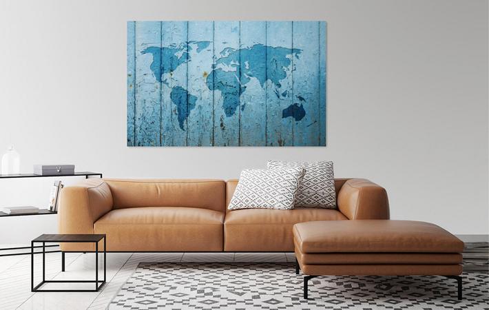 09 Wereldkaart op Blauwe deur