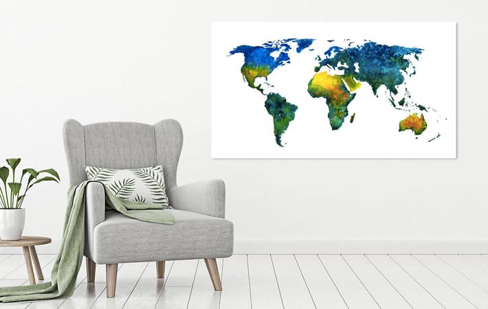 11 Wereldkaart vol kleur