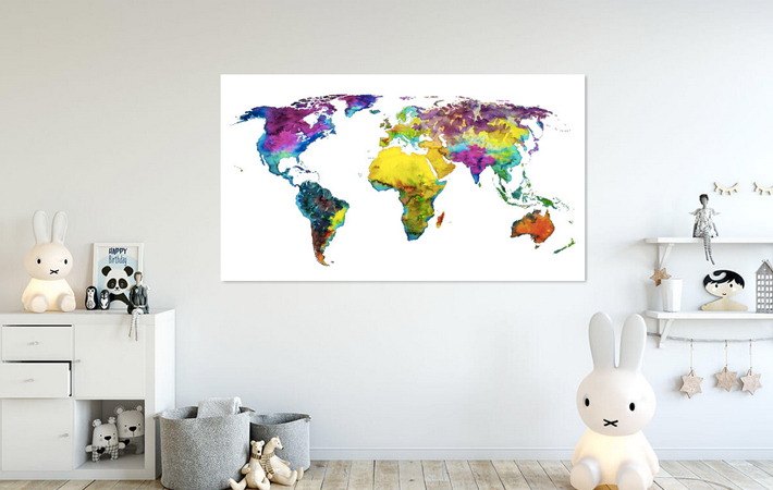 12 Tropical Color Worldmap