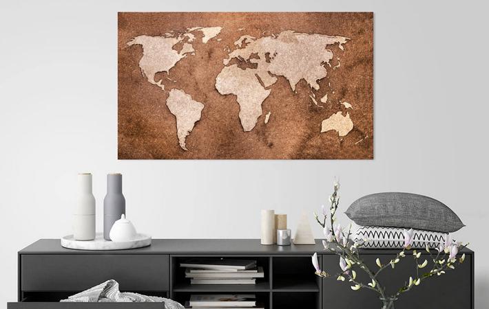 14 Wereldkaart op Houtvezels