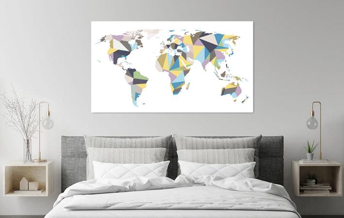 15 Geometrische Pastel Wereldkaart