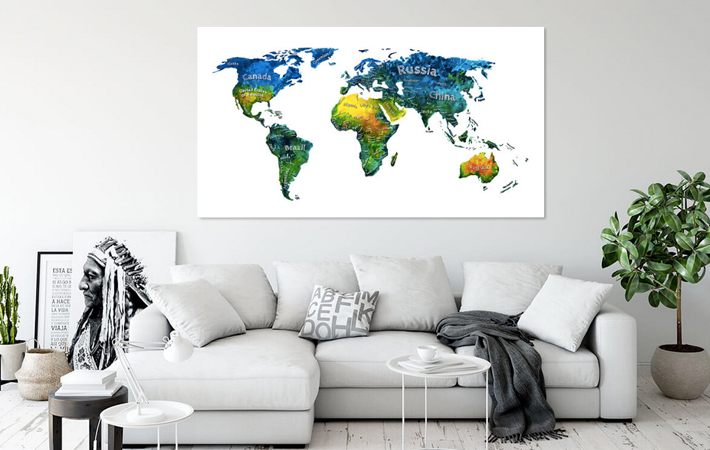 Tropical Color Worldmap