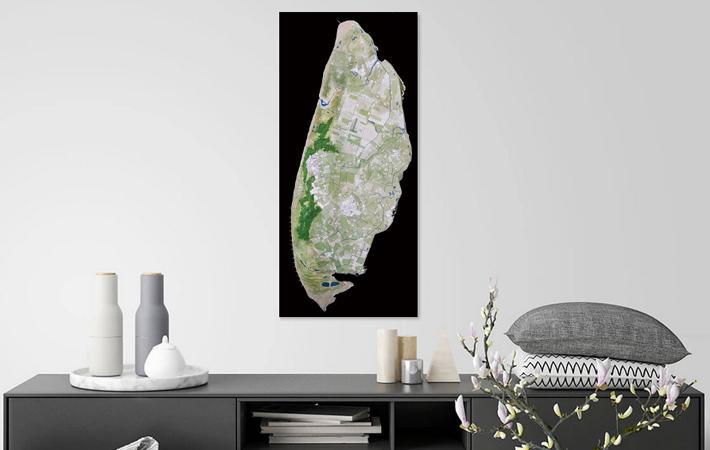 02 Texel Landkaart in Aquarel Black