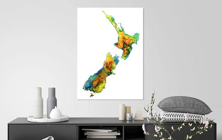 14 Kleurrijk Nieuw Zeeland in Aquarel